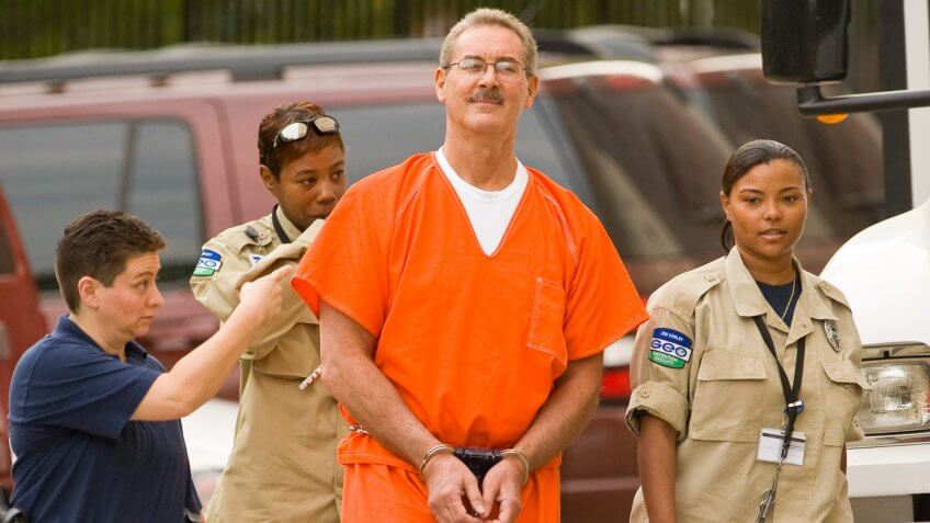 HOUSTON - JUNE 24:  Robert Allen Stanford arrives for a bond hearing at the Bob Casey Federal Courthouse June 25, 2009 in Houston, Texas.