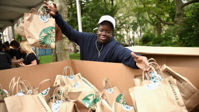 Food share event by Starbucks