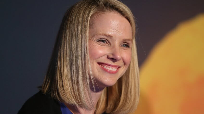 NEW YORK, NY - MAY 20:  Yahoo! CEO Marissa Mayer attends a news conference following the company's acquisition of Tumblr at a press conference in Times Square on May 20, 2013 in New York City.