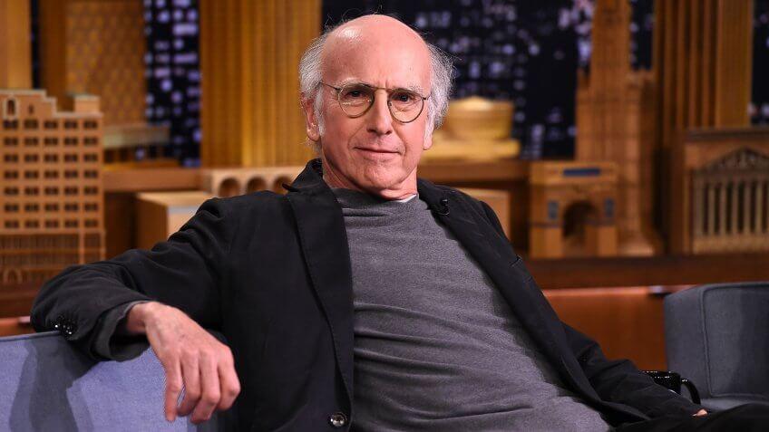 "NEW YORK, NY - JUNE 08:  Larry David  visits ""The Tonight Show Starring Jimmy Fallon"" at Rockefeller Center on June 8, 2015 in New York City."
