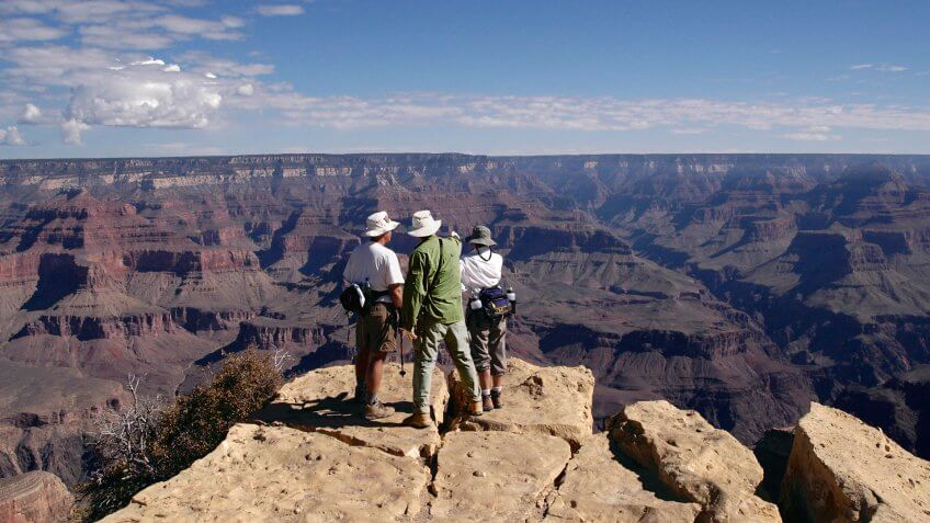 """Grand Canyon, South Rim view scenic overlook."