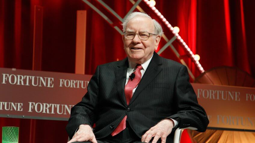 WASHINGTON, DC - OCTOBER 13: Warren Buffett speaks onstage during Fortune's Most Powerful Women Summit - Day 2 at the Mandarin Oriental Hotel on October 13, 2015 in Washington, DC.