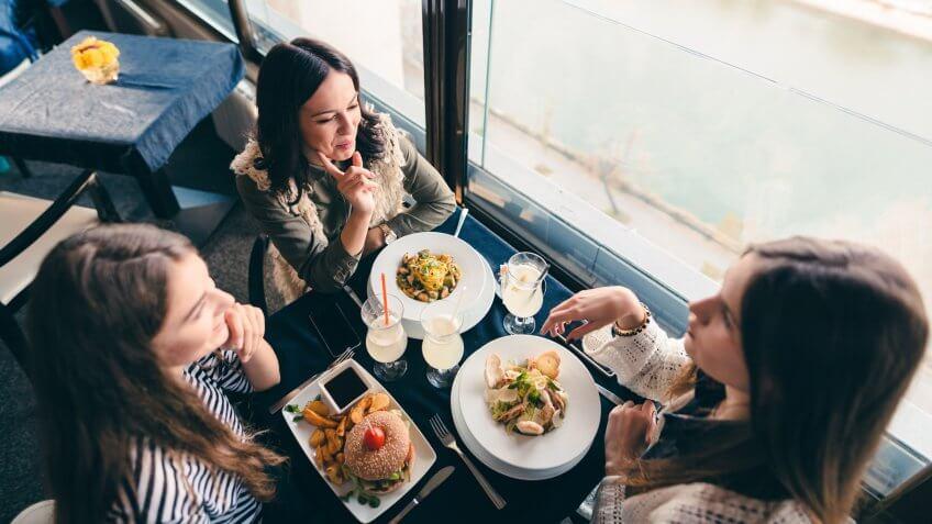 women in restaurant.