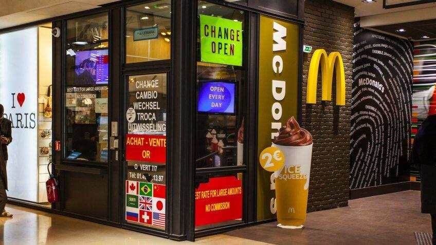 McDonalds restaurant at Avenue des Champs-Elysees.