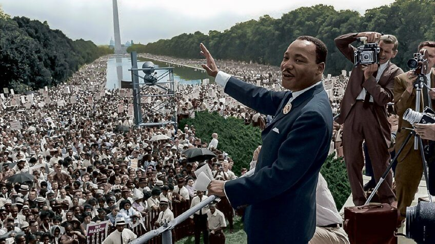 Martin Luther King Jr I Have a Dream Speech 08-28-1963 Lincoln Memorial (Wiki Commons).
