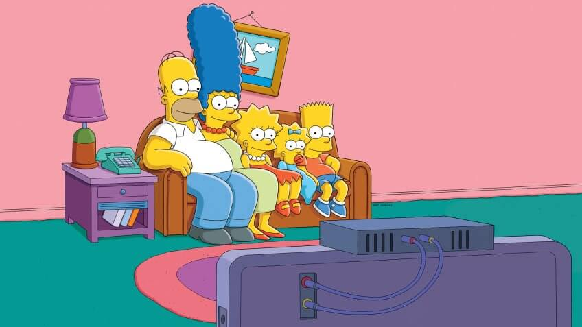 THE SIMPSONS: The Simpson Family.
