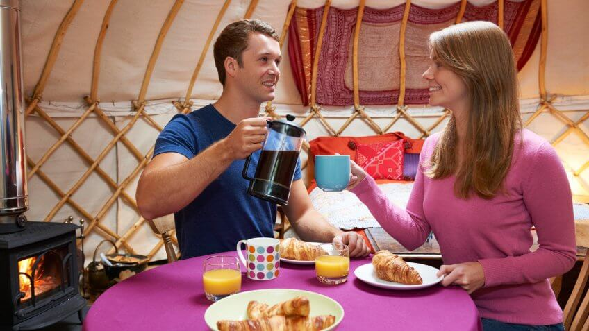 "Growing popularity of ""glamping"" holidays."