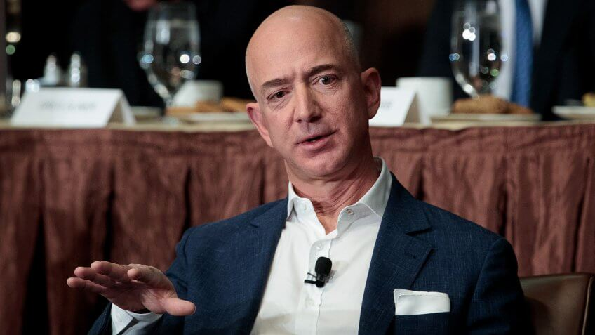 NEW YORK, NY - OCTOBER 27: Jeff Bezos, Chairman and founder of Amazon.