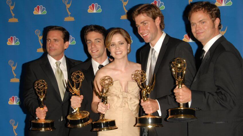 """LOS ANGELES - AUGUST 27: the Cast of """"The Office"""" in the Press Room at the 58th Annual Primetime Emmy Awards in The Shrine Auditorium August 27, 2006 in Los Angeles, CA."""