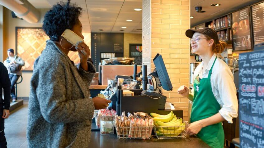 Starbucks-barista-customer
