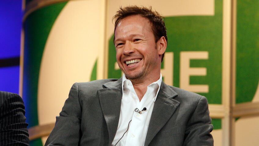 """PASADENA, CA - JULY 17:  Actor Donnie Wahlberg from the series """"Runaway"""" speaks at the 2006 Summer Television Critics Association Press Tour for the The CW Network at the Ritz-Carlton Huntington Hotel on July 17, 2006 in Pasadena, California."""