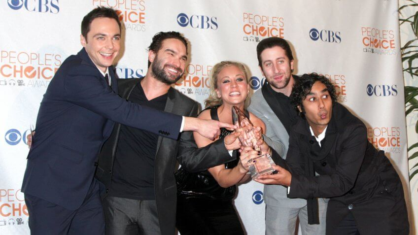 Big Bang Theory Cast in the Press Room at the 2010 People's Choice Awards Nokia Theater January 6, 2010.
