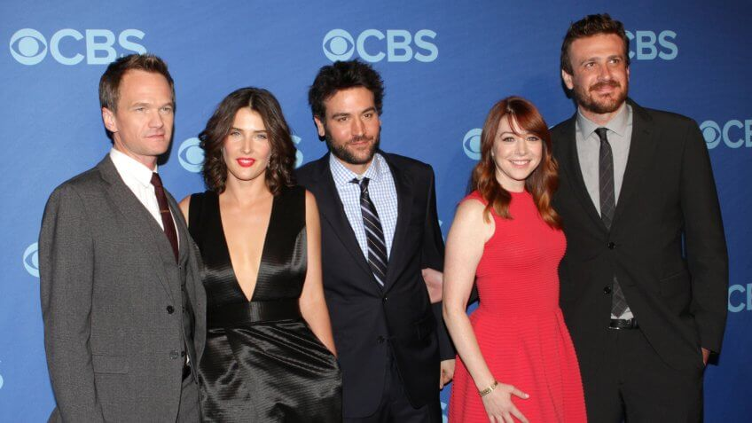 NEW YORK - MAY 15: Neil Patrick Harris, Cobie Smulders, Josh Radnor, Alyson Hannigan and Jason Segel attend the 2013 CBS Upfront at Lincoln Center on May 15, 2013 in New York City.