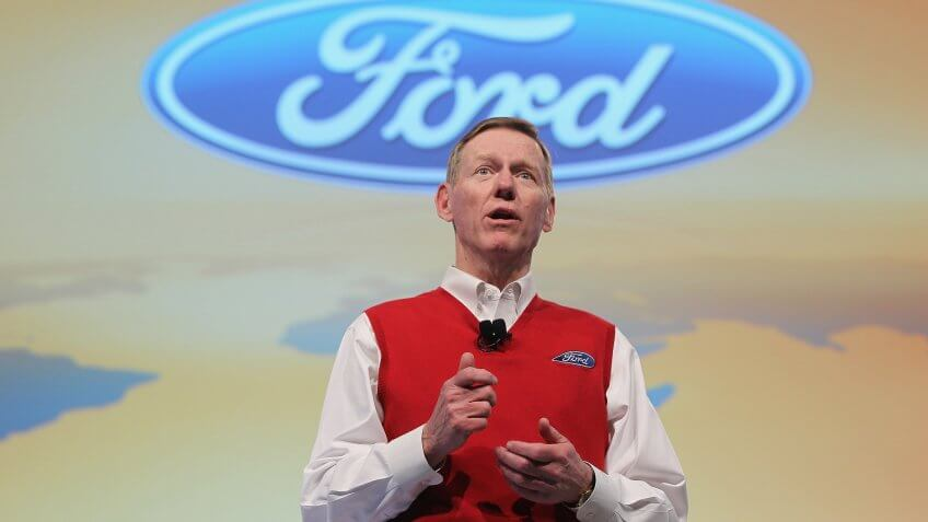 HANOVER, GERMANY - MARCH 01:  Alan Mulally, CEO of Ford Motor Co.