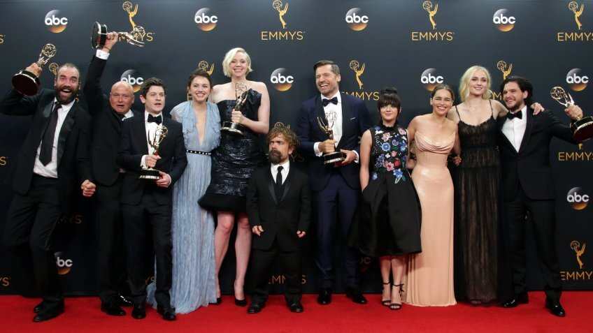 Mandatory Credit: Photo by Mike Nelson/Epa/REX/Shutterstock (7934306dk)The Cast and Crew of 'Game of Thrones' Winner of the Outstanding Drama Series Award Pose in the Press Room During the 68th Annual Primetime Emmy Awards Ceremony Held at the Microsoft Theater in Los Angeles California Usa 18 September 2016 the Primetime Emmy Awards Celebrate Excellence in National Primetime Television Programming United States Los AngelesUsa Emmy Awards 2016 - Sep 2016.