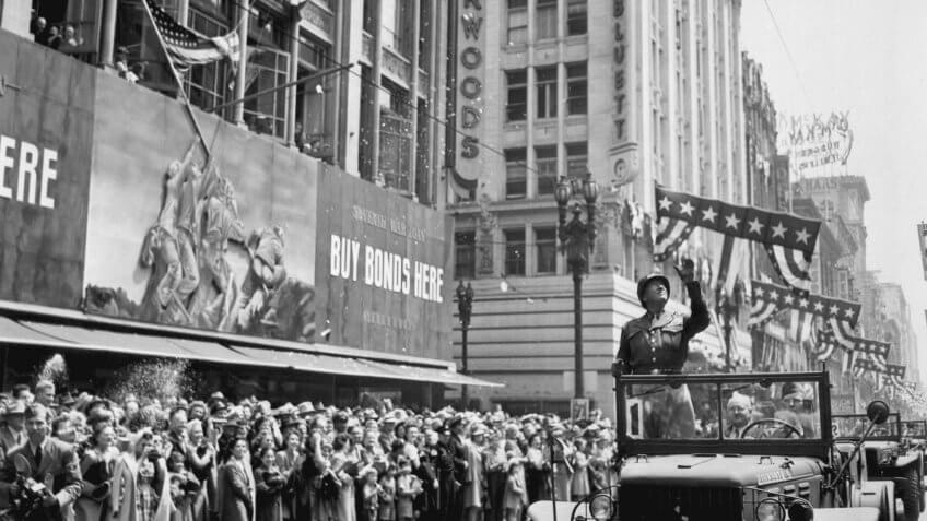 General Patton Welcome Home Parade Los Angeles California