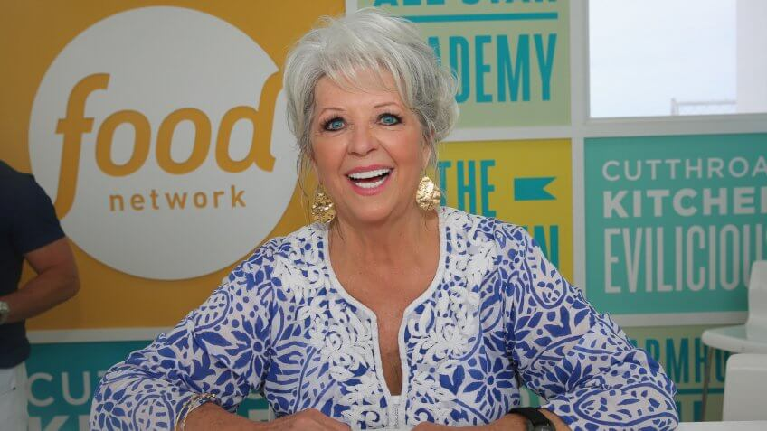 MIAMI BEACH, FL - FEBRUARY 22:  Chef Paula Deen signs books at the KitchenAid Culinary Demonstrations during the 2015 Food Network & Cooking Channel South Beach Wine & Food Festival presented by FOOD & WINE at Grand Tasting Village on February 22, 2015 in Miami Beach, Florida.