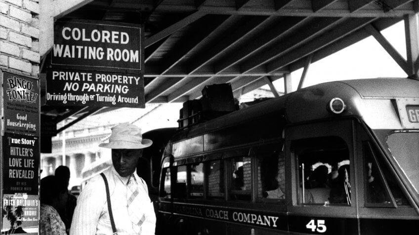1940 Segregated Jim Crow Laws Bus Stop