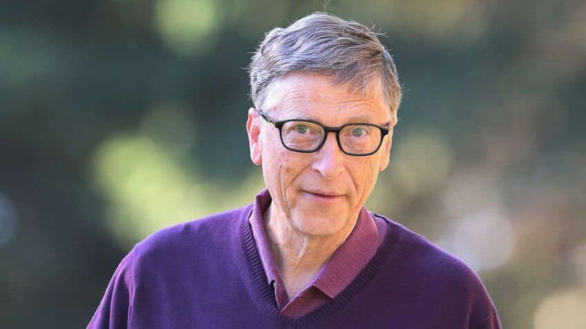 SUN VALLEY, ID - JULY 10:  Bill Gates, chairman and founder of Microsoft Corp.