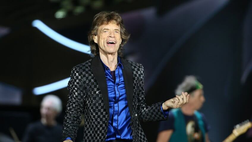 AUCKLAND, NEW ZEALAND - NOVEMBER 22:  Lead Singer Mick Jagger in action as The Rolling Stones perform live at Mt Smart Stadium on November 22, 2014 in Auckland, New Zealand.