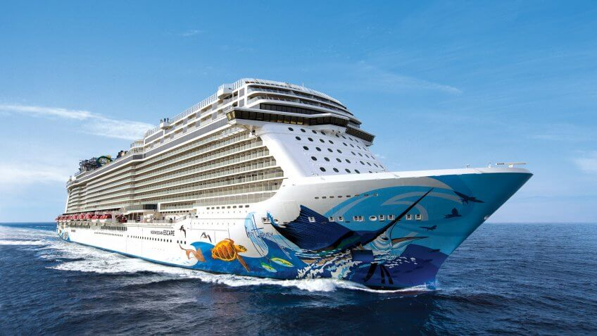 Norwegian Escape during Sea Trials along the coast of NorwayNorwegian Cruise Line.