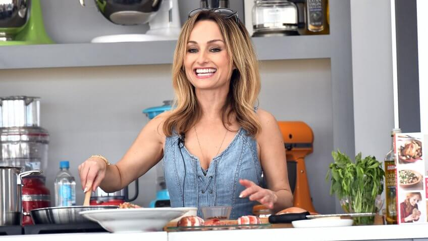 MIAMI BEACH, FL - FEBRUARY 26:  Chef Giada De Laurentiis leads a cooking demonstration on stage at Goya Foods' Grand Tasting Village Featuring Mastercard Grand Tasting Tents & KitchenAid Culinary Demonstrations - Day 2 on February 26, 2017 in Miami Beach, Florida.