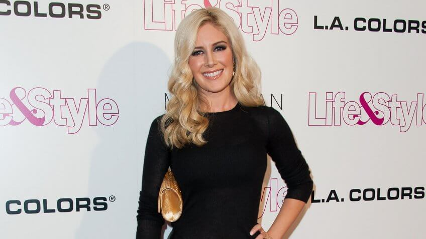 WEST HOLLYWOOD, CA - OCTOBER 23:  Heidi Montag arrives at Life & Style Weekly 10 Year Anniversary Party at SkyBar at the Mondrian Los Angeles on October 23, 2014 in West Hollywood, California.