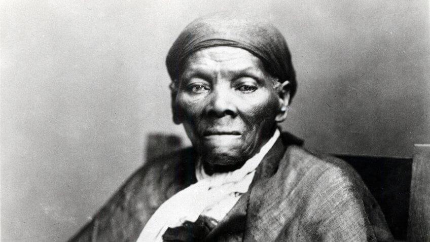 Portrait of abolitionist Harriet Tubman.