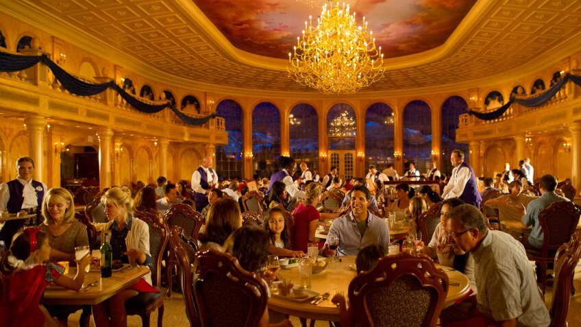 "With an elegant setting right out of Disney's ""Beauty and the Beast,"" Be Our Guest Restaurant magically takes Magic Kingdom diners into the French countryside for French-inspired cuisine."
