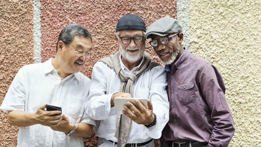group of older men