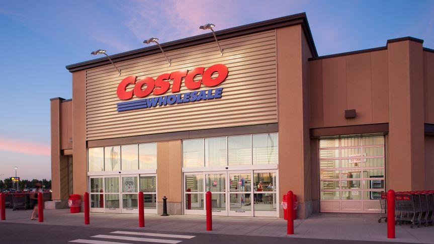 Drummondville,Quebec,Canada-July 12,2013:Costco Wholesale storefront in Drummondville at dusk.
