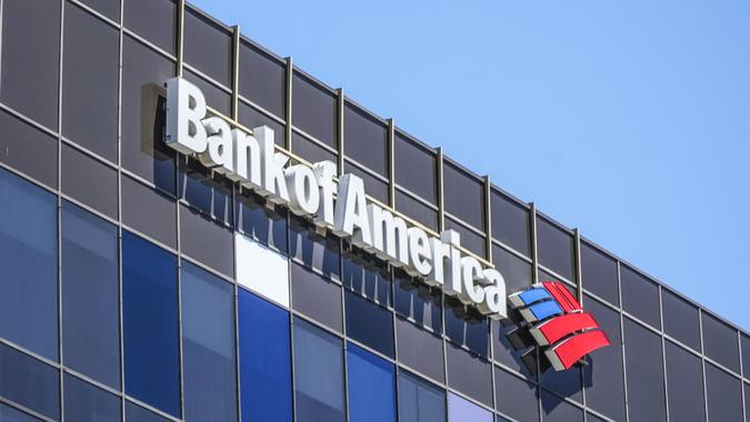 Bank of America in Beverly Hills - LOS ANGELES / CALIFORNIA - APRIL 20, 2017.