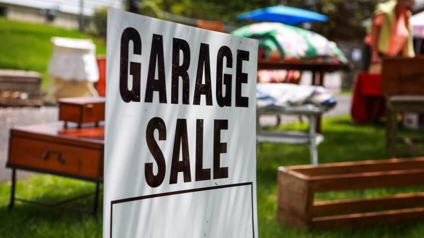 Garage sale sign.