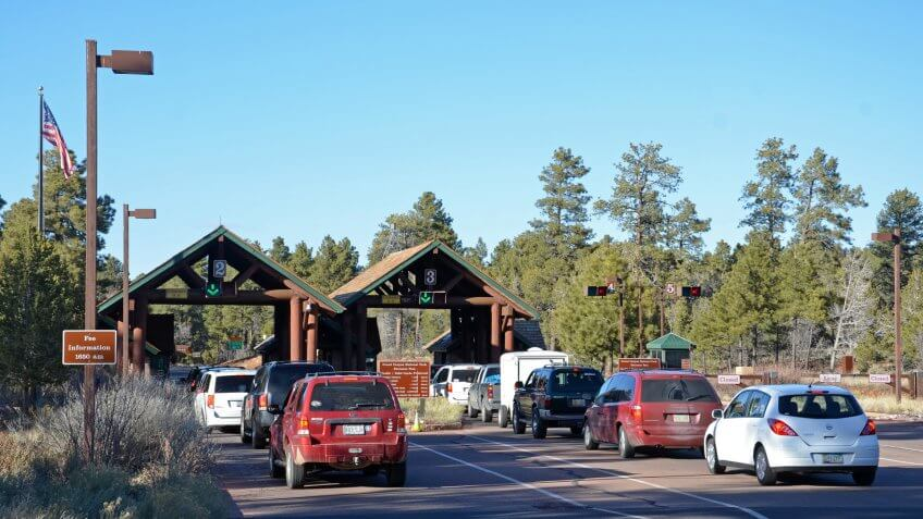 Grand Canyon National Park South Entrance Station.