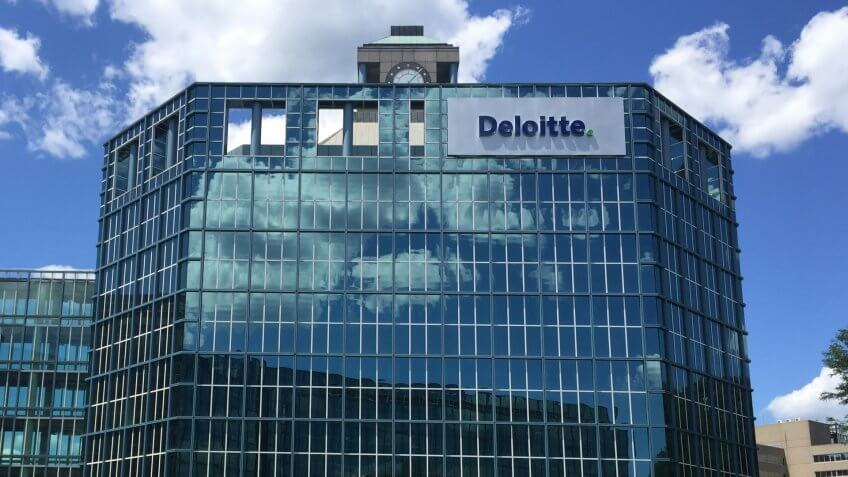 STAMFORD, CT - JUL 23: Deloitte office in Stamford, Connecticut, on July 23, 2015.