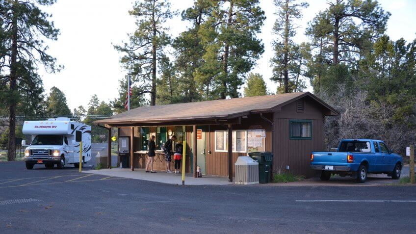 Mather Campground- No hook-ups- 30-foot trailer or RV maximumOpen year-round.