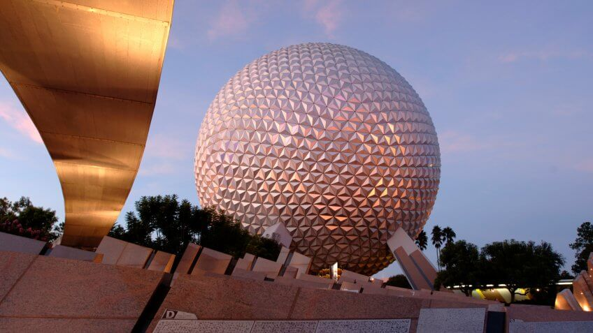 EPCOT'S SHINING ICON - Spaceship Earth is the visual and thematic centerpiece of Epcot at Walt Disney World Resort in Lake Buena Vista, Fla.