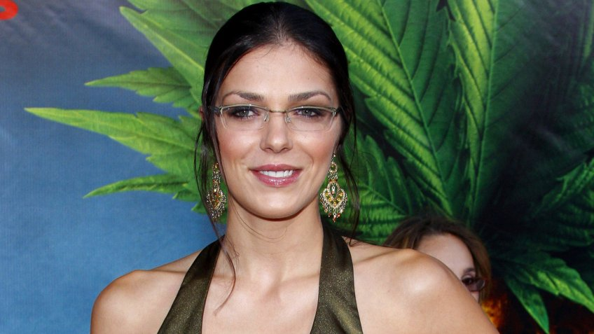 Adrianne Curry at the World premiere of 'Pineapple Express' held at the Mann Village Theater in Westwood, USA on July 31, 2008.