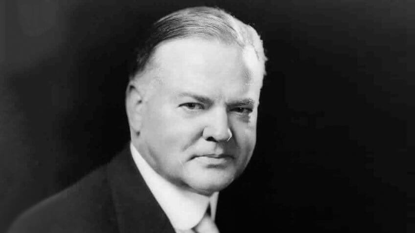 Herbert Hoover, head-and-shoulders portrait, facing slightly right.