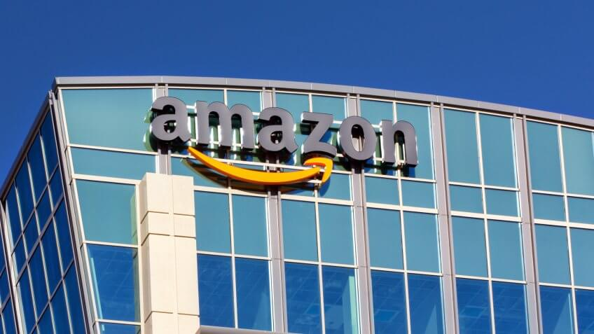 SANTA CLARA,CA/USA - FEBRUARY 1, 2014: Amazon building in Santa Clara, California.
