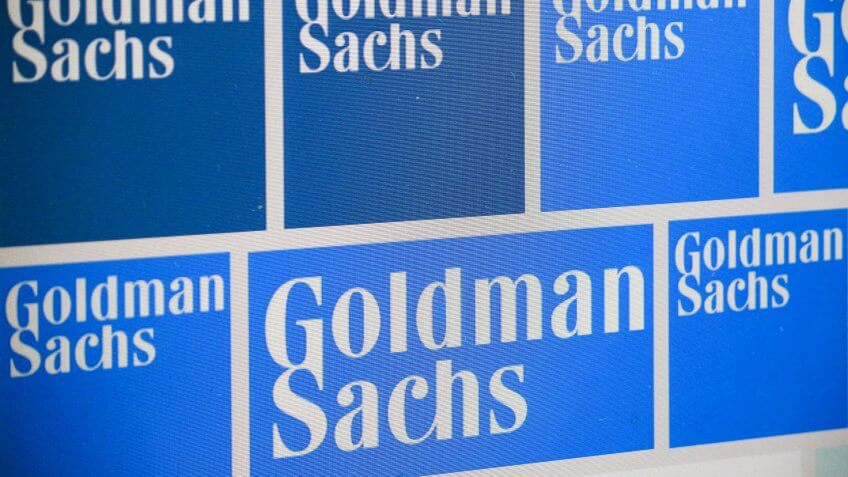 "JULY 2016 - BERLIN: the logo of the brand ""Goldman Sachs""."