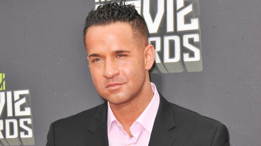 Mike Sorrentino, aka The Situation, at the 2013 MTV Movie Awards at Sony Studios, Culver City.