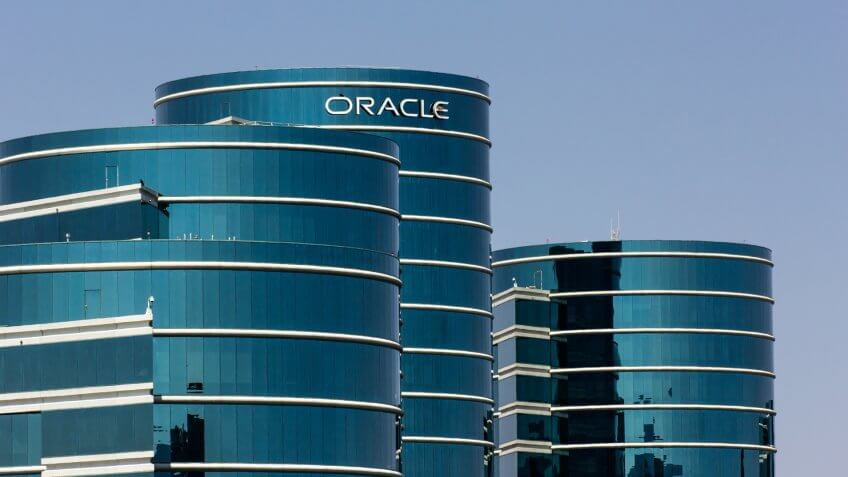REDWOOD CITY, CA/USA - MAY 31, 2014: Oracle corporate headquarters in Silicon Valley.