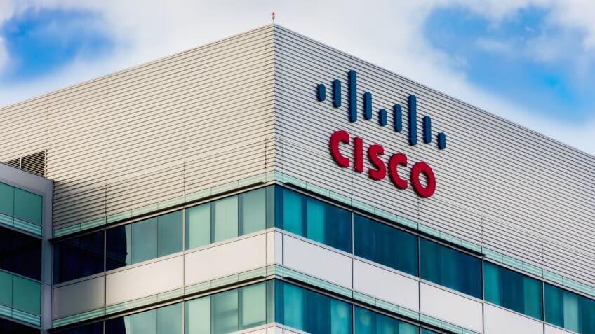 SANTA CLARA, CA/USA - MARCH 1, 2014: Cisco Facility in Silicon Valley.