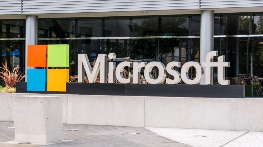 SILICON VALLEY, USA - SEPTEMBER 17: Microsoft building on September 17, 2015 in Silicon Valley, California, United States.