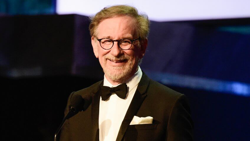 HOLLYWOOD, CA - JUNE 09: Director Stephen Spielberg onstage during American Film Institute's 44th Life Achievement Award Gala Tribute show to John Williams at Dolby Theatre on June 9, 2016 in Hollywood, California.