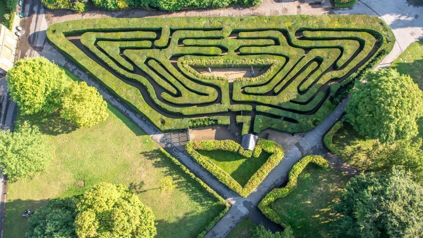 Your Cost to Visit the Coolest Mazes in the World | GOBankingRates Labyrinth Garden Designs Sixteen Feet on heart labyrinth designs, greenhouse garden designs, christian prayer labyrinth designs, simple garden designs, water garden designs, rectangular prayer labyrinth designs, meditation garden designs, finger labyrinth designs, new mexico garden designs, school garden designs, 6 path labyrinth designs, indoor labyrinth designs, informal herb garden designs, dog park designs, shade garden designs, knockout rose garden designs, labyrinth backyard designs, spiral designs, stage garden designs, walking labyrinth designs,