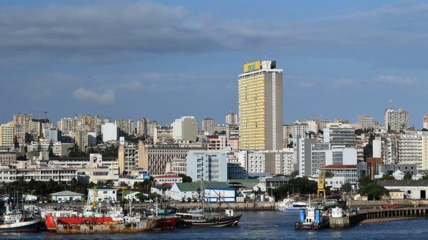 Maputo scenic city view.
