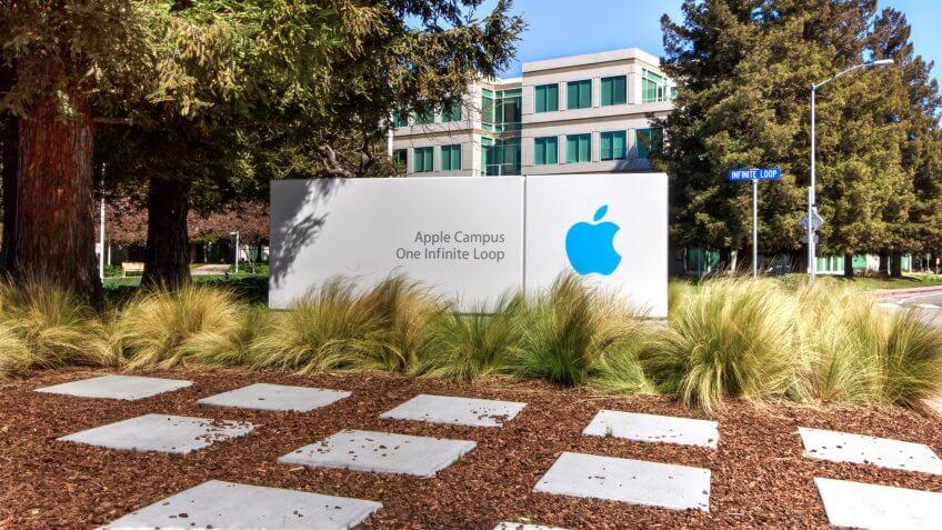 CUPERTINO, CA/USA - MARCH 16, 2014: Apple Headquarters in Silicon Valley.