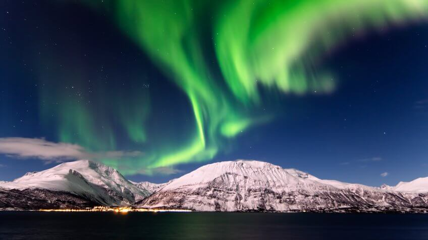 Northern Lights in Lyngen, Northern Norway.